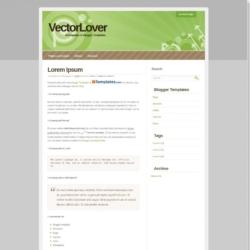 VectorLover Blogger Template