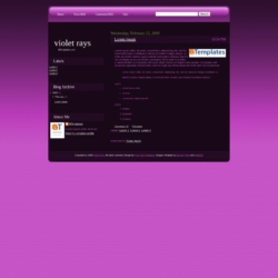 Violet Rays Blogger Template