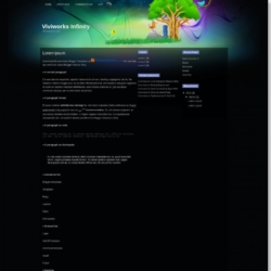 Viviworks Infinity Blogger Template