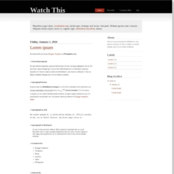 Watch This Blogger Template