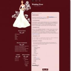 Wedding Dress Blogger Template
