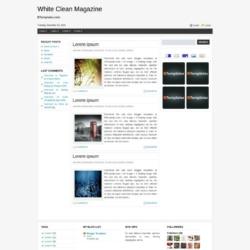 White Clean Magazine Blogger Template