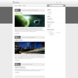 White Press Blogger Template