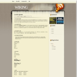 Wiking Blogger Template