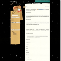 Wild Moon Blogger Template