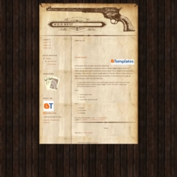 Wild West Blogger Template