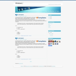 Windows 7 Blogger Template