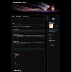 Windows Vista Blogger Template