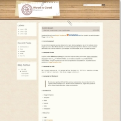 Wood is Good Blogger Template