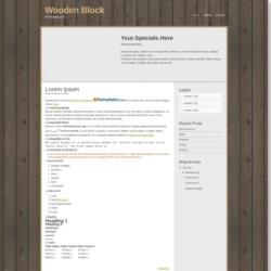 Wooden Block Blogger Template