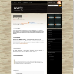 Woodsy Blogger Template