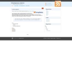 WordPress Admin Blogger Template