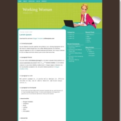 Working Woman Blogger Template