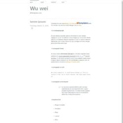 Wu wei Blogger Template