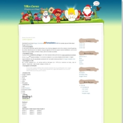XMas Crowd Blogger Template