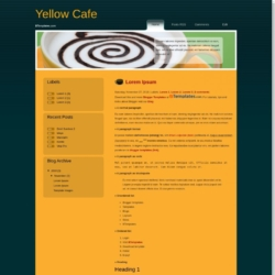 Yellow Cafe Blogger Template