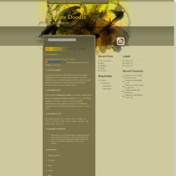 Yellow Doodle Blogger Template