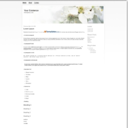 Your Existence Blogger Template