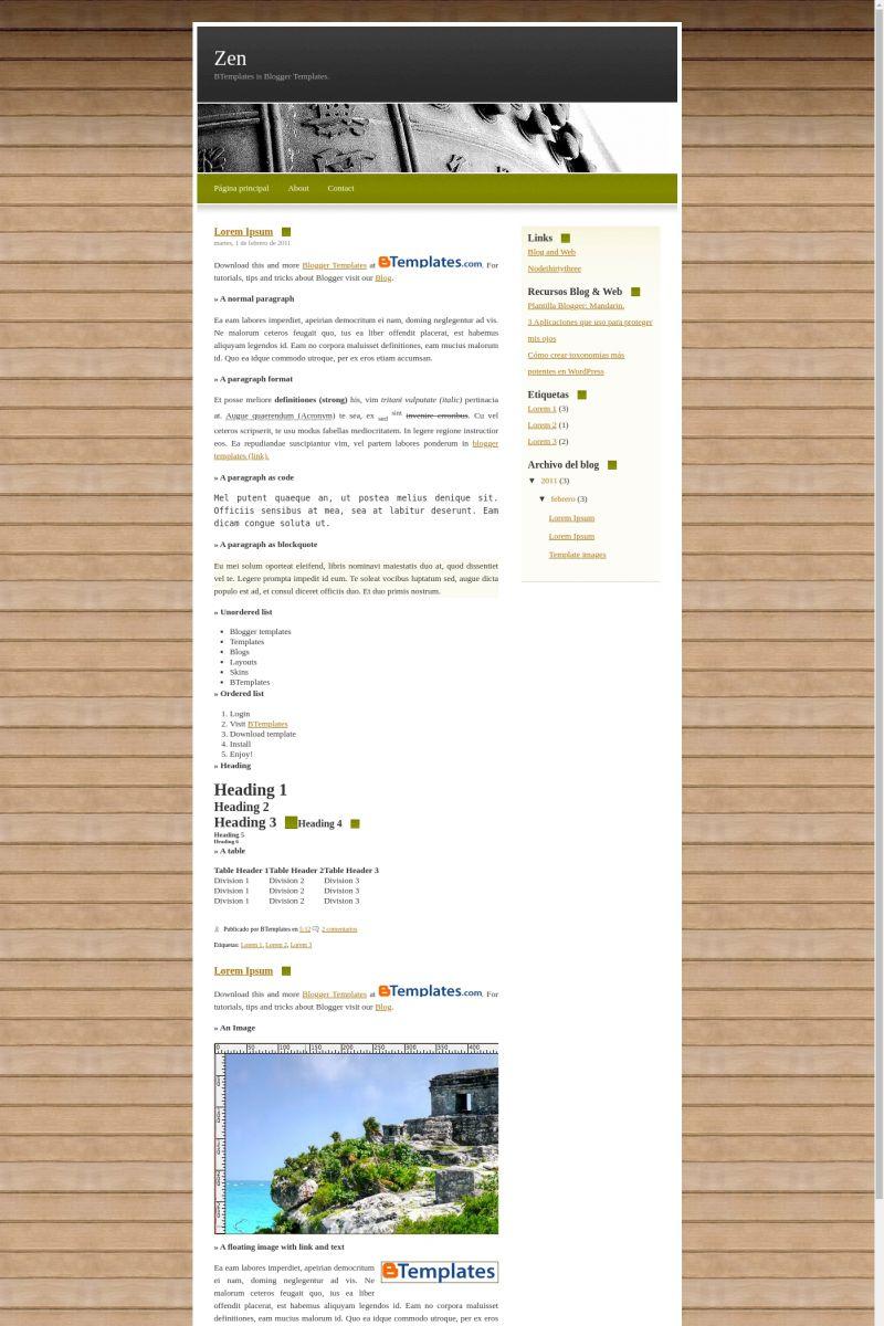 Download Zen Blogger Template