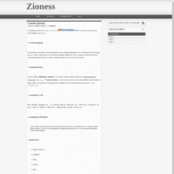 Zioness Blogger Template