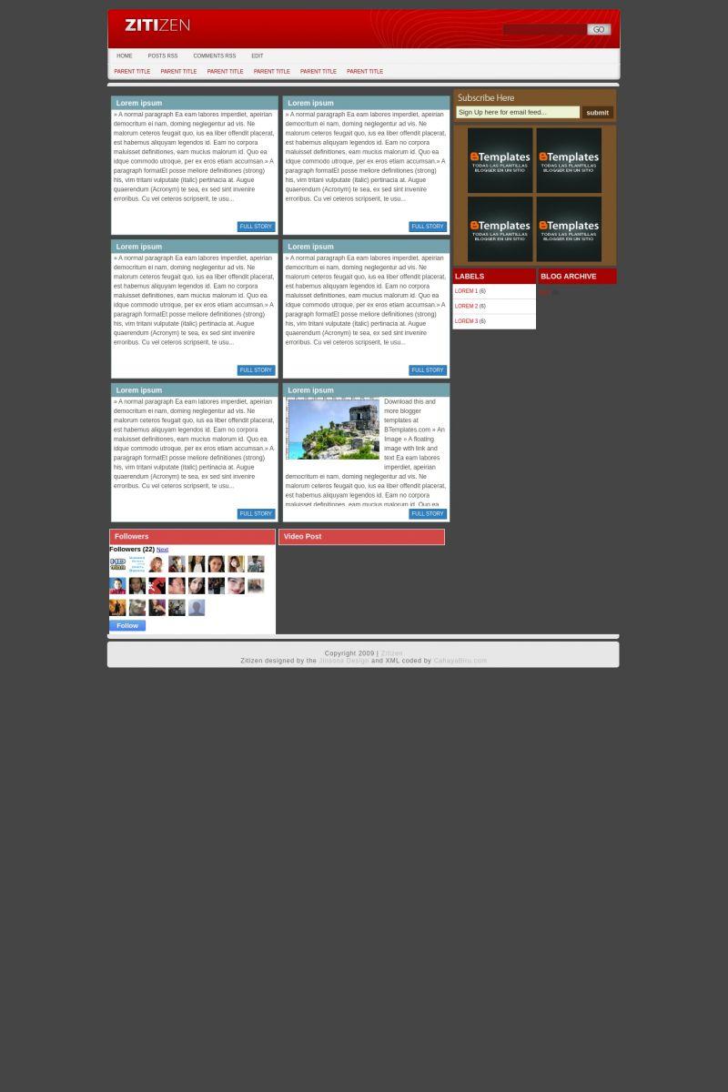 Download Zitizen Blogger Template